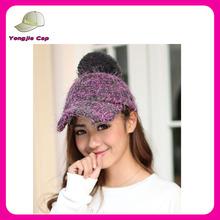 Top Quality Bulk Sale 100 acrylic knitted pom baseball style custom beanie hat with top ball