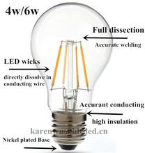 LED Edison bulb,/450lm 650lm filament LED bulb/2w 3w 4w 6w LED filament bulb
