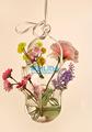 Colgante de la mano florero de vidrio soplado para la flor