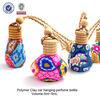 glass perfume bottle /New design essential oil storage polymer clay glass bottle