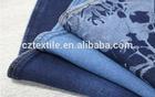 China indigo knit denim 4 way stretch fabric