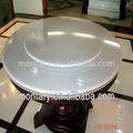 super blanc ronde en verre de table à manger en verre