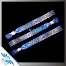 Promotional Items 2015 custom woven fabric bracelet,event armbands
