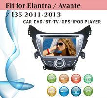 8 inch car dvd gps navigation fit for Hyundai Elantra 2013 with radio bluetooth gps tv