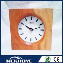 handmade wooden clock/wooden table clock