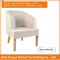 white living room arm chair linen fabric cover home furniture
