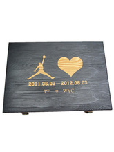 Top selling products black wooden case with custom LOGO and printing