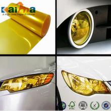 golden yellow headlight vinyl sticker,Tint vinyl car warp ,car headlight color change film,