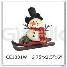 Chirstmas gift sledding Snowman Christmas decoration
