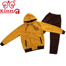 Winter Latest Design Men's Star Print Cheap Thick Fleece Zipped Hoodie