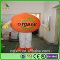 Naranja orgánica disfraces, trajes de publicidad