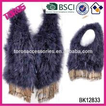 2015 High Quality Winter Fashion Purple 100% Fur Lady Cape Women Cape Poncho