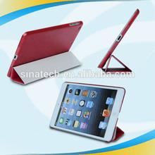 PU leather folio stand cover case for apple ipad mini 3 mini3