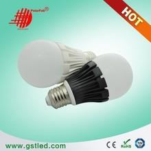 high luminance 5W,6W,7W,10W,12W 1000lm A60 e27 led bulb