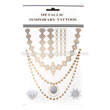 High Quality Foil Tattoo Sticker necklace Jewelry