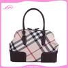 travel canvas bag/canvas toiletry bag/genuine leather canvas bag