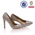 Fábrica de porcelana popular bonito alto- fim de salto alto cristal prata italiana sandálias das mulheres