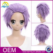Europe Fashion Japanese Anime Starry & Sky Purple Cosplay Wig
