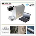 de haute précision bague en argent abs galvanoplastie métallique machine de marquage laser à fibre