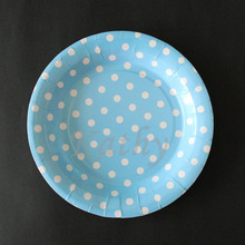 light bule Polka dot Wedding paper plates