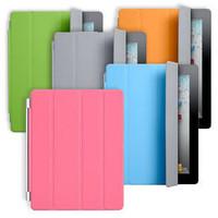 New release three folding leather smart cover for ipad mini 3