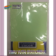 Hot selling light green color 220gsm glossy art paper