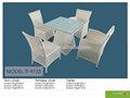 Tf-9113 caliente venta moderno de mimbre de la rota restaurante y muebles de jardín / de la rota sillas de comedor de mesa