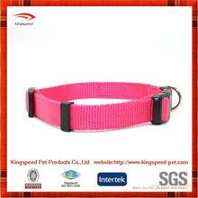 coloful cheap price nylon plain pet dog collars