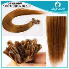 Europe aliexpress Keratin hair extensions/Pre-bonded body U-tip/Natural human hair for women