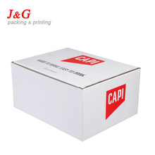 offset printing white fluting box packaging with SGS certificate