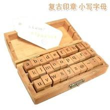 Alphabet 30pcs/box wood stamp (lower case)