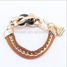 Fashion gold bracelet,fish hook bracelet for man