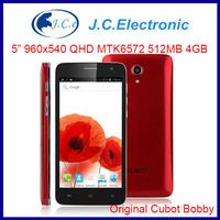 Original Cubot Bobby Mobile Phone MTK6572 Dual Core Android Smartphone 5.0 Inch QHD IPS Screen 512MB RAM 3400mAh