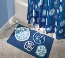 High Quality Comfortable Bath Rug & Shower Curtain Set