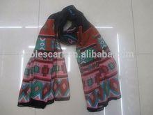Lace Crochet Jacquard Scarf Wool