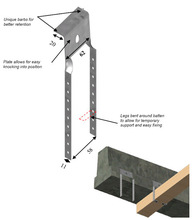 ceiling clip for use with beam and block flooring systems