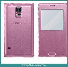 PU skin&Microfibre mobile phone samsung case for s5
