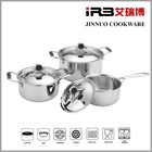 TRI-PLY Stainless Steel Dishwasher Safe PFOA Free Cookware Set, 6-Piece, Sliver(18cm 20cm stockpot,16cm saucepan)