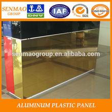 exterior wall cladding embossed finish aluminum composite materials