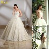 MN-083 Beautiful Appliqued Lace-up Corset Ball Gown Wedding Dress With Sweetheart Neckline