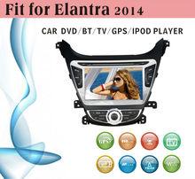 8 inch car dvd gps navigation fit for Hyundai Elantra 2014 with radio bluetooth gps tv