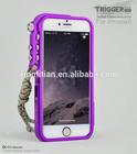 2014 mobile phone bumper case Arm sports Trigger metal aluminum bumper Case For iPhone 6