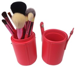 The best quality personalized cheap cylinder makeup brush case