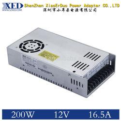 XED 12V 16.5A 200W LED neon power supply