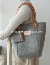 2015 china alibaba supplier hot sale new product wholesale eco friendly durable bag felt ladies handbag made in china