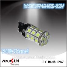 Car interior dome light T20 7440 24smd 5050 autolamp led