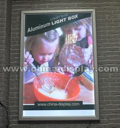 Advertising led aluminum slim light box snap frame