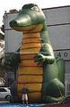 Lovely publicidade inflável crocodilo/correção inflável dos desenhos animados