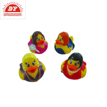 ICTIC factory plastic race duck yellow rubber duck,christmas rubber duck