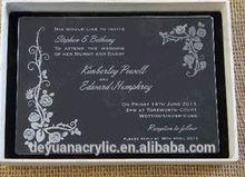 Custom design creative pop up cards/ Pop acrylic wedding invitation card box
